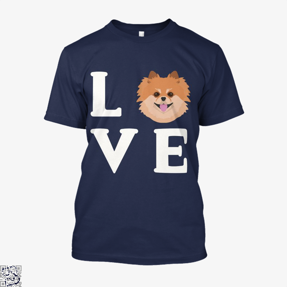 Pom Pom Dog Puppy Face, Pomeranian Shirt