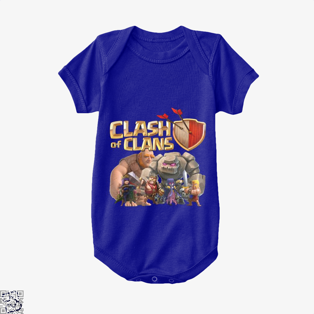 Coc Golem With Friend, Clash Of Clans Baby Onesie