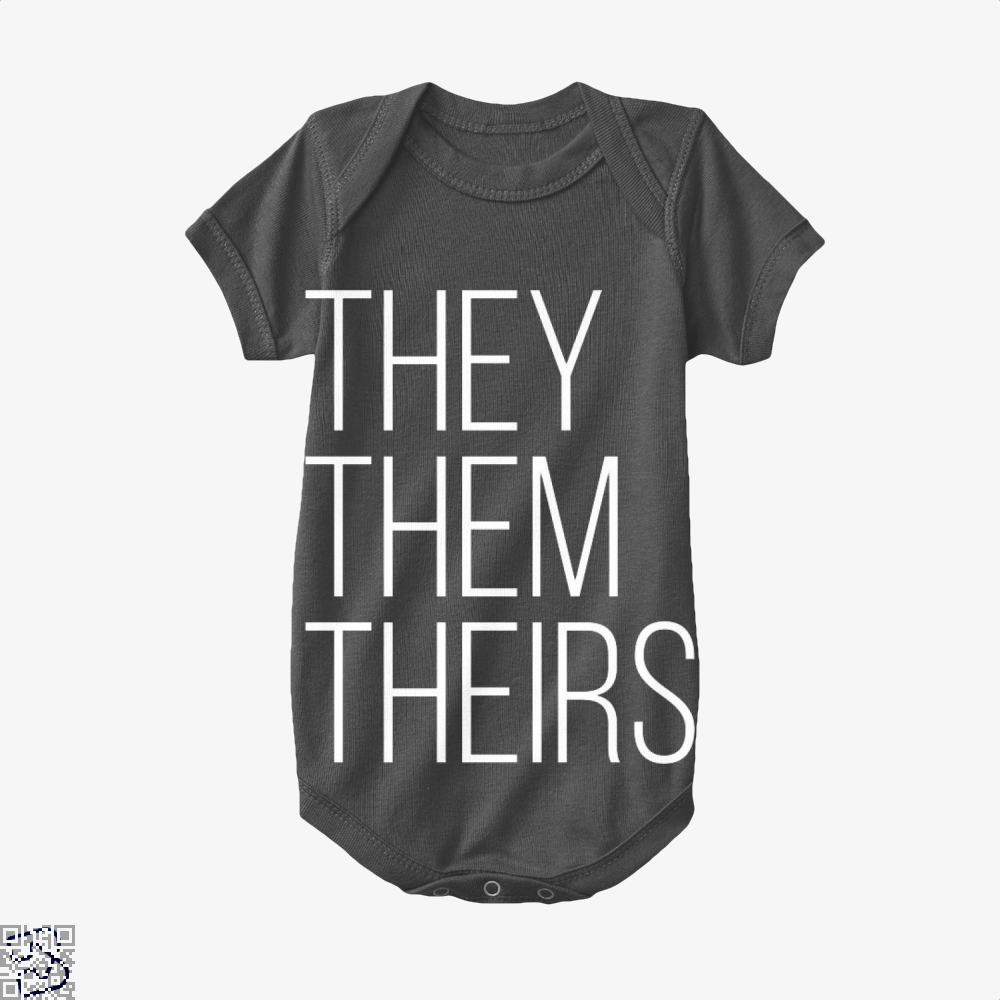 They Them Theirs, Lgbt Baby Onesie