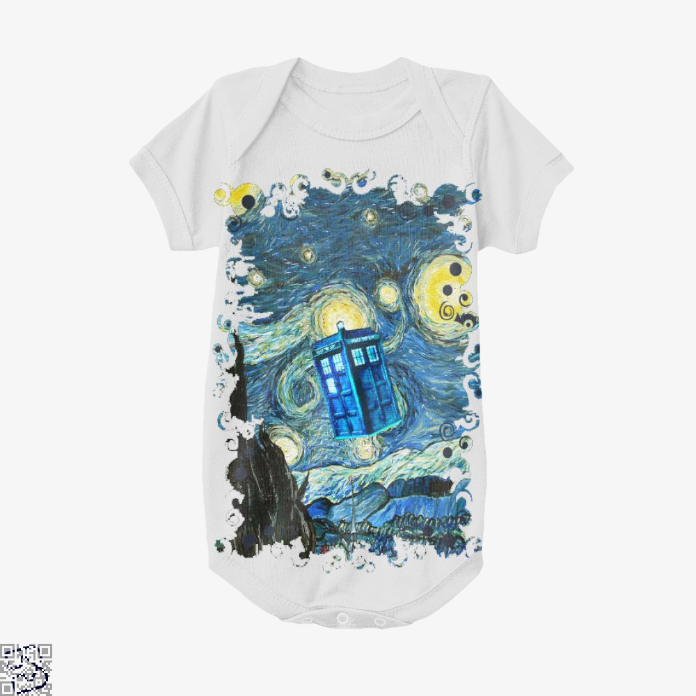 Soaring Blue Phone Box, Doctor Who Baby Onesie