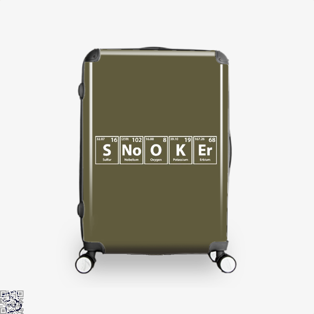 Snooker (s-no-o-k-er) Periodic Elements Spelling, Snooker Suitcase