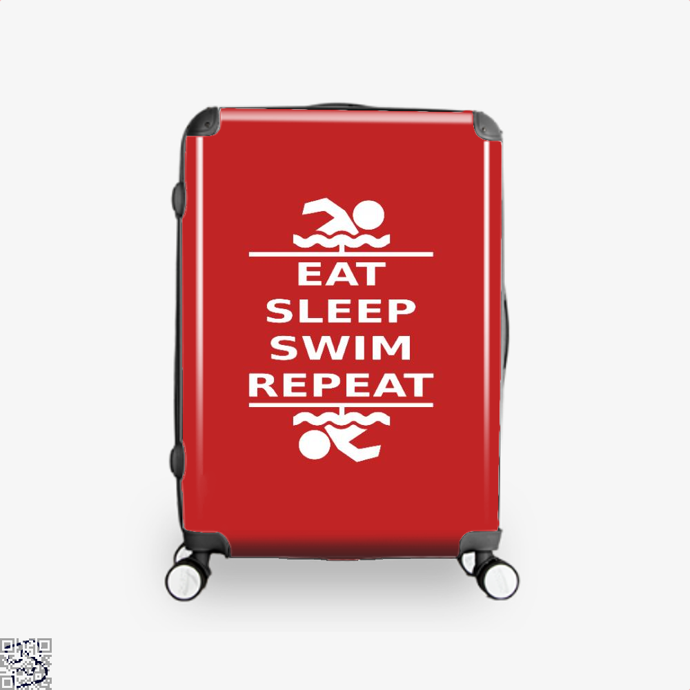 Eat, Sleep, Swim, Swim Suitcase