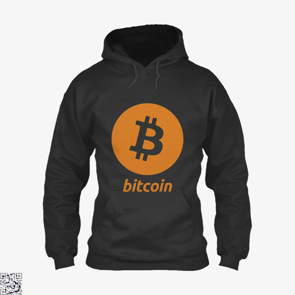 Bitcoin Logo, Cryptocurrency Hoodie