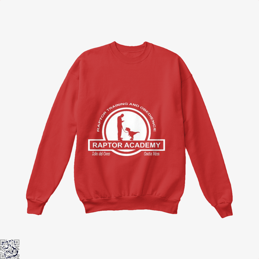 Raptor Academy Velociraptor Training And Obedience School, Jurassic World Crew Neck Sweatshirt