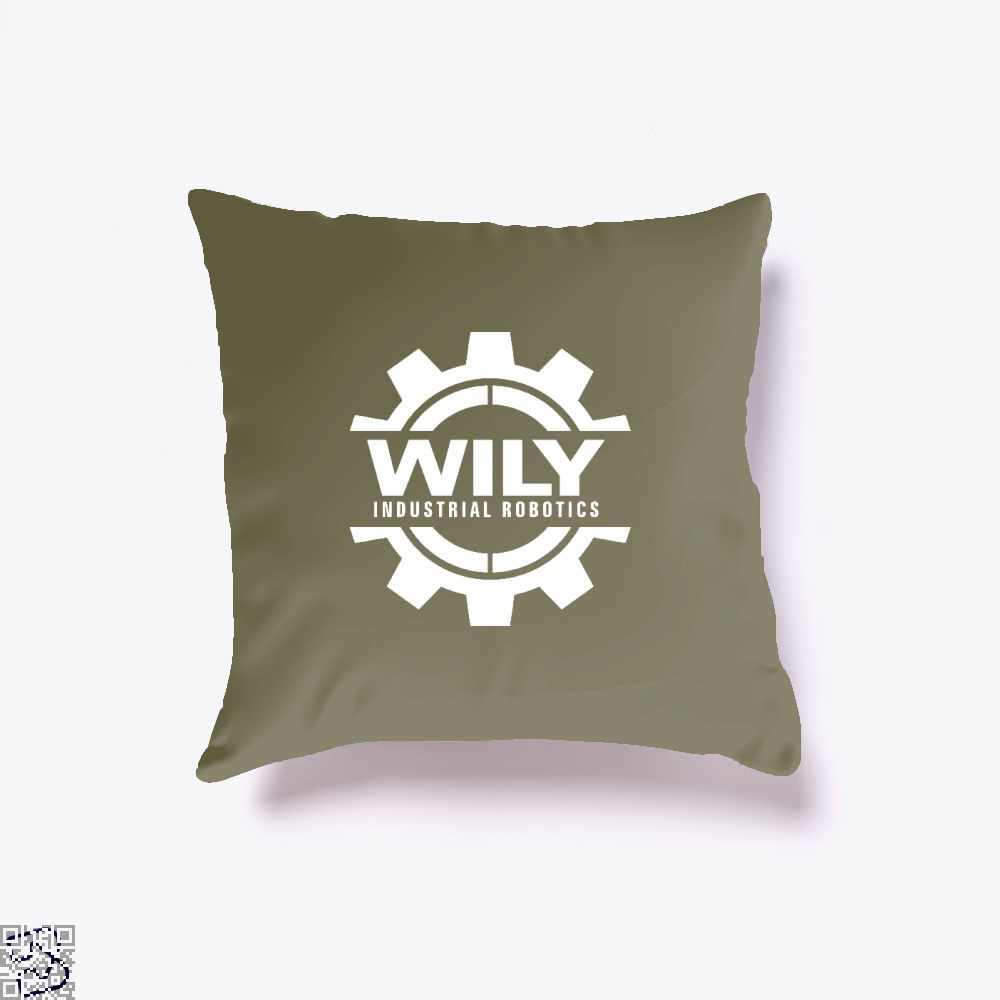 Dr. Wily Industrial Robotics, Megaman Throw Pillow Cover