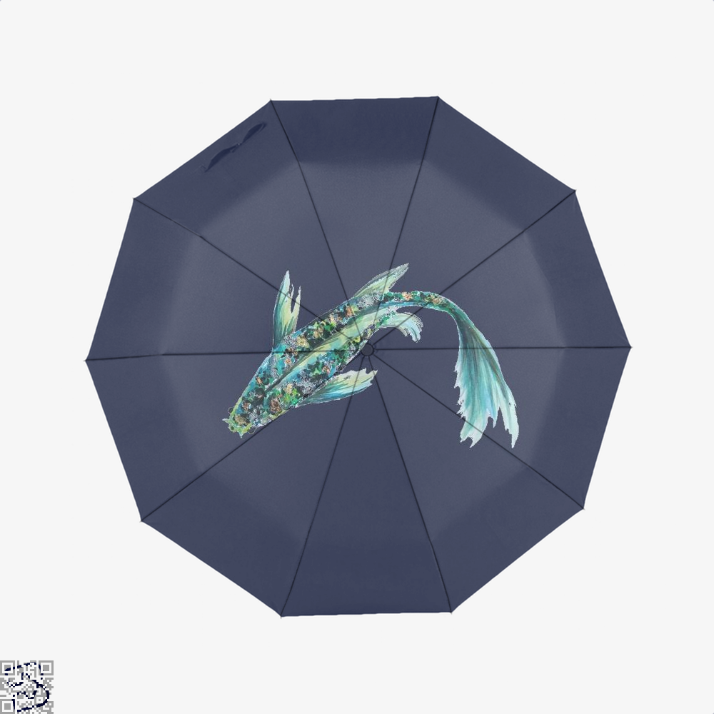 Watercolor Koi, Kamloopsartparty Umbrella