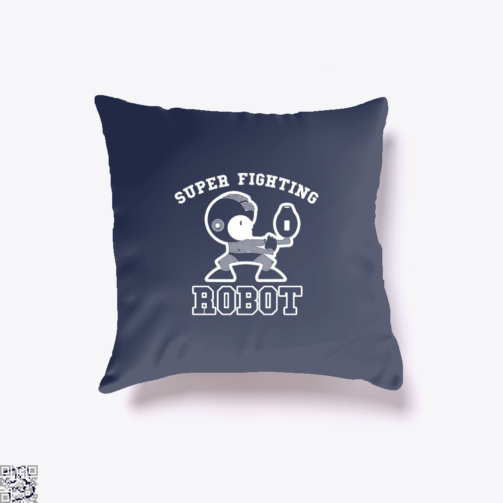 Super Fighting Robot, Megaman Throw Pillow Cover