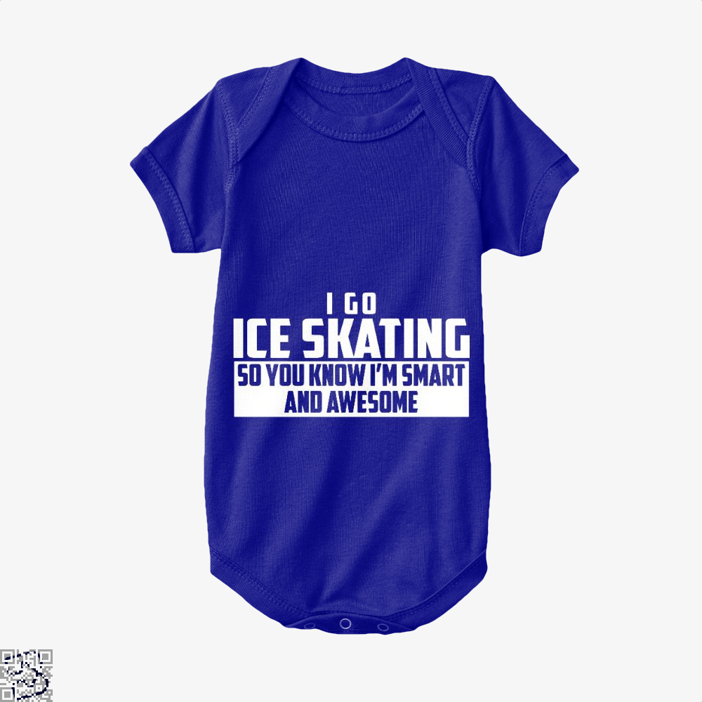 Smart And Awesome Ice Skating, Skating Baby Onesie