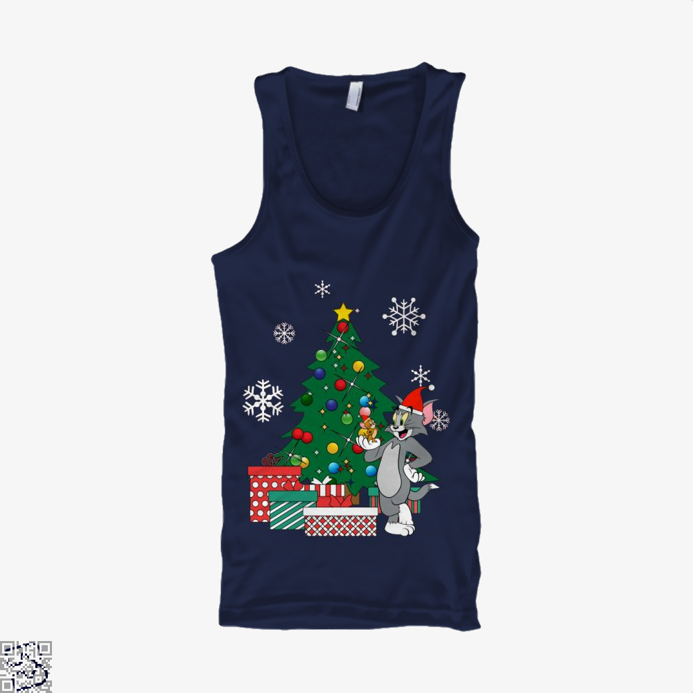 Tom And Jerry Around The Christmas Tree, Tom And Jerry Tank Top