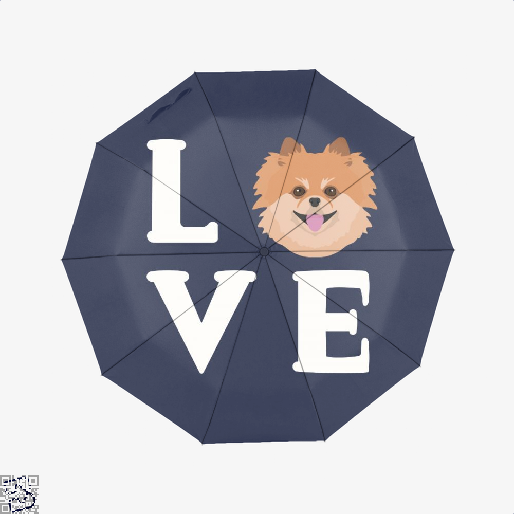 Pom Pom Dog Puppy Face, Pomeranian Umbrella