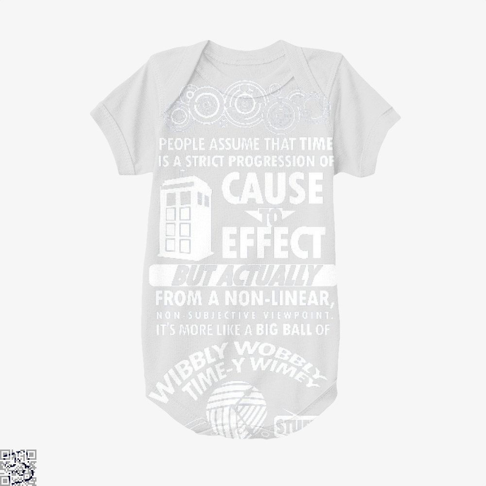 Timey Wimey Tee, Doctor Who Baby Onesie