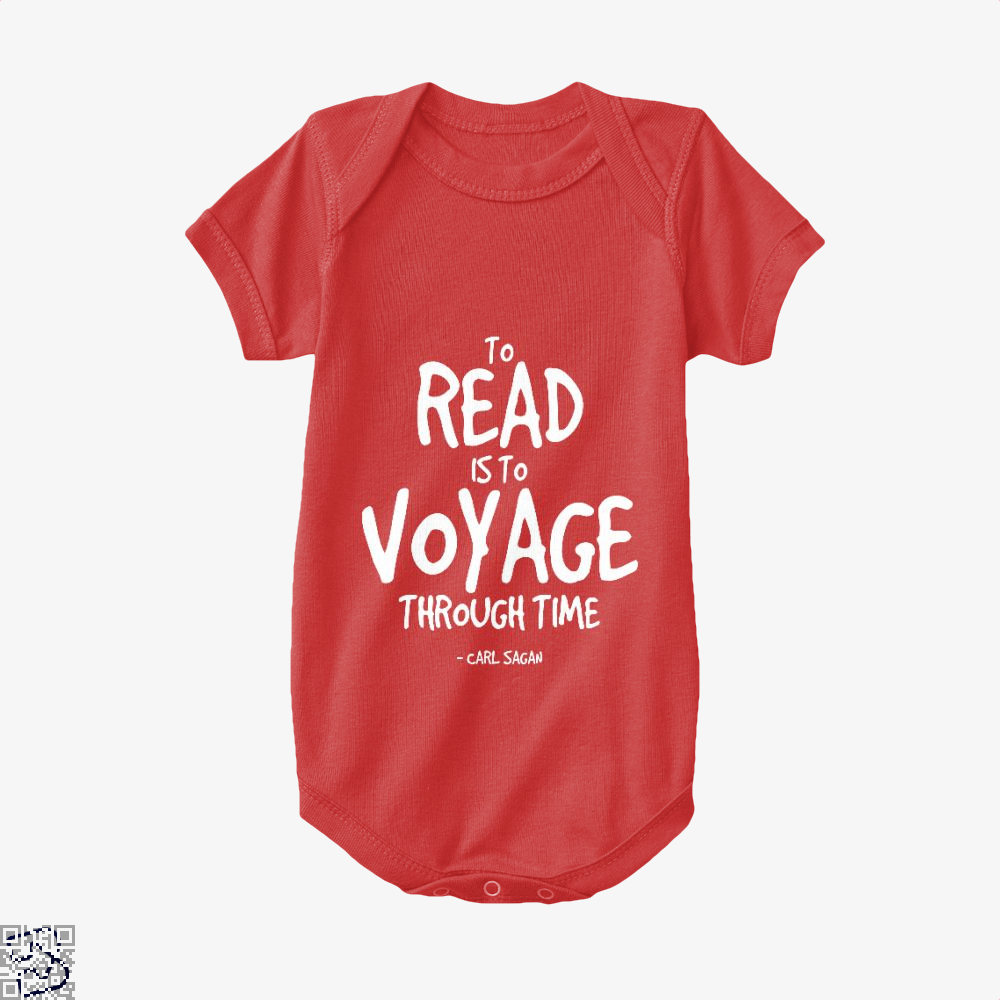 Reading Is Time Traveling Short Quote, Reading Baby Onesie