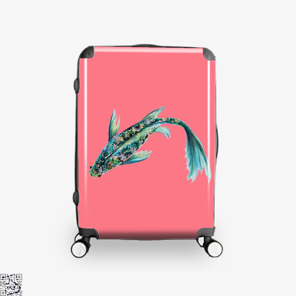 Watercolor Koi, Kamloopsartparty Suitcase