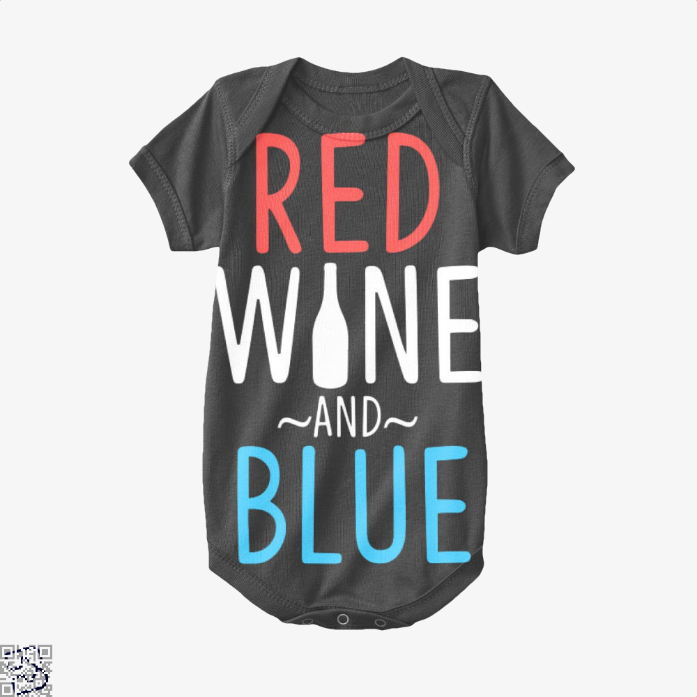 Red Wine And Blue, Wine Baby Onesie