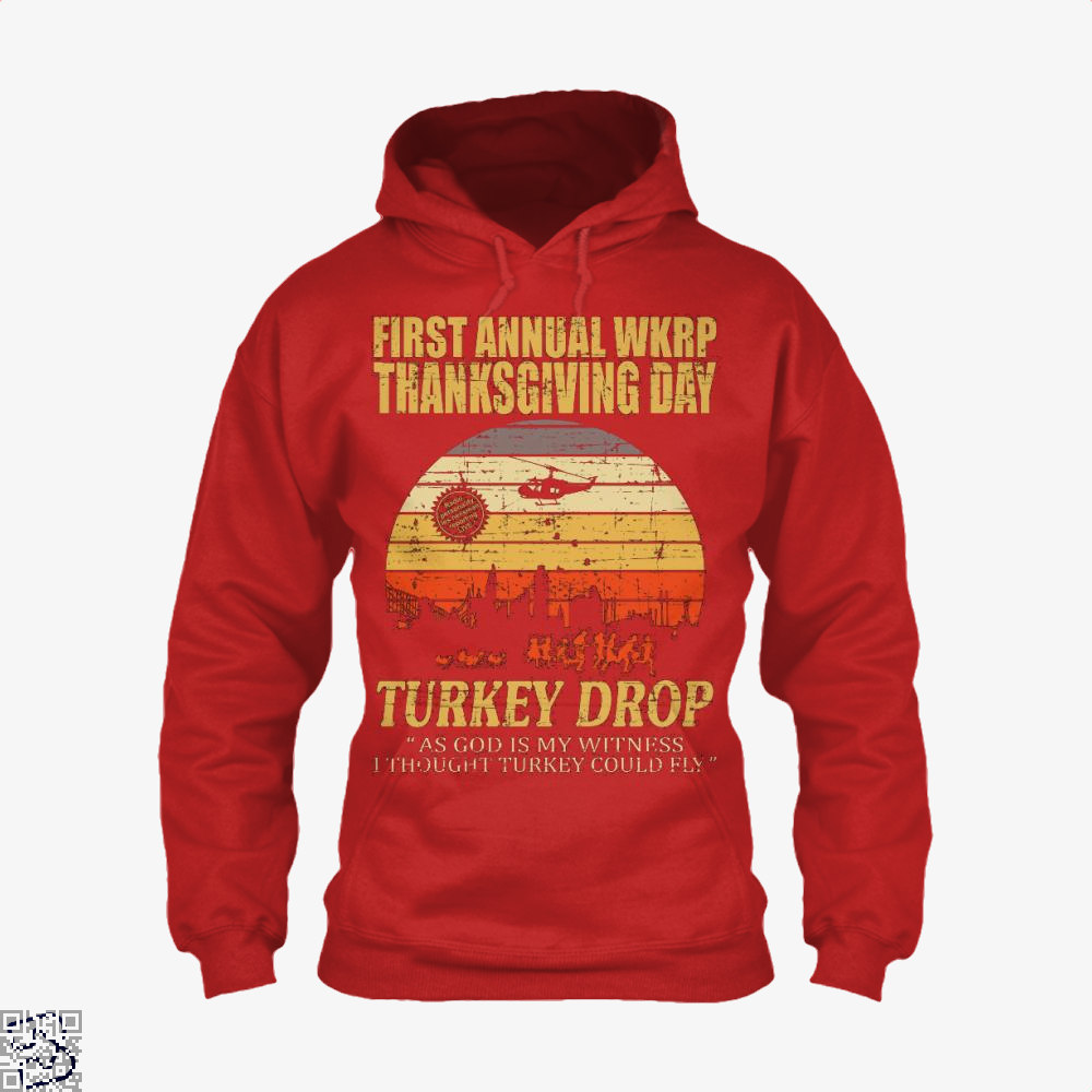 Thanksgiving Wkrp Turkey Drop Distressed, Turkey Hoodie