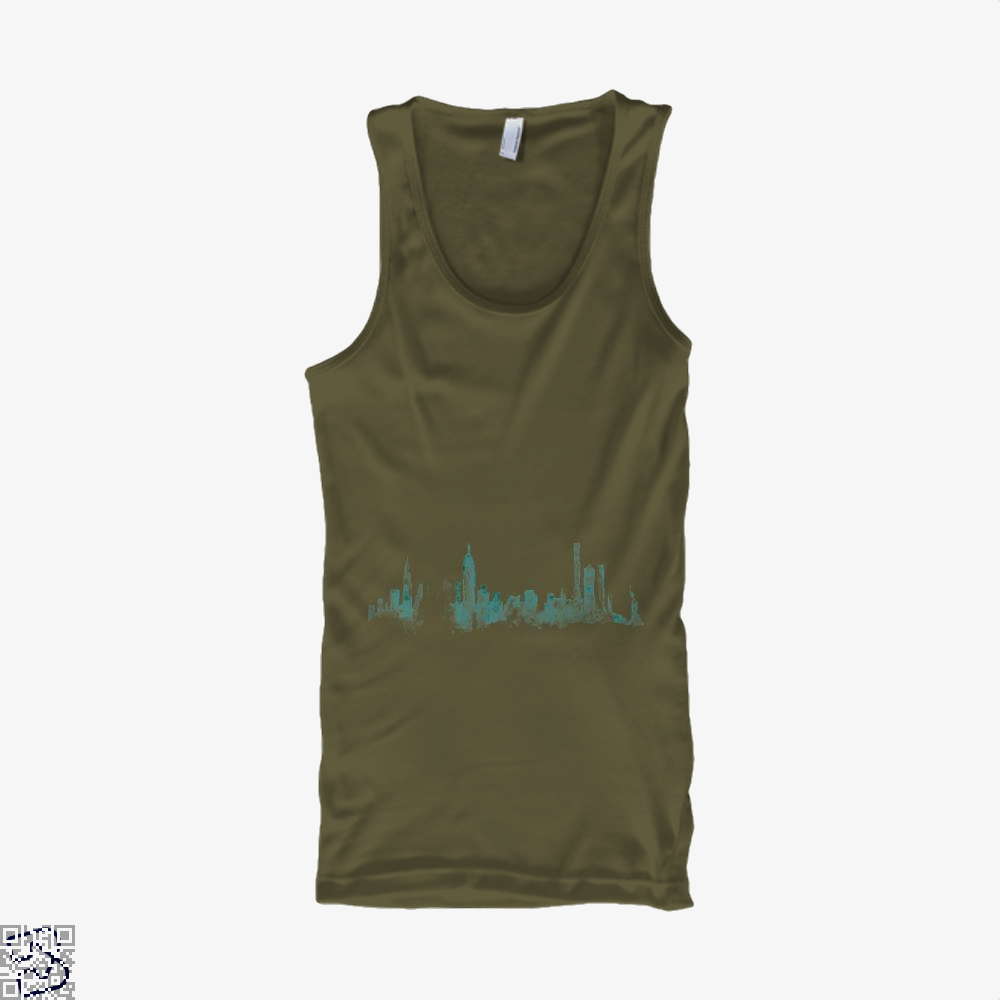 Watercolor Skyline, New York City Tank Top