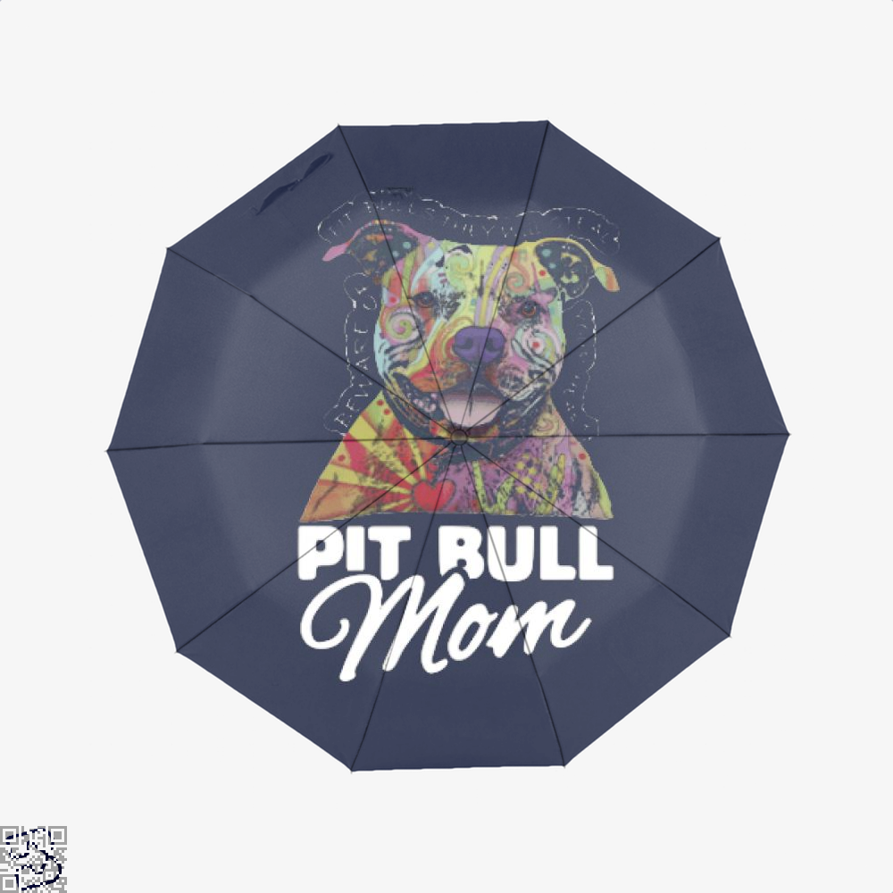 The Colorful Pit Bull Mom, Pitbull Umbrella