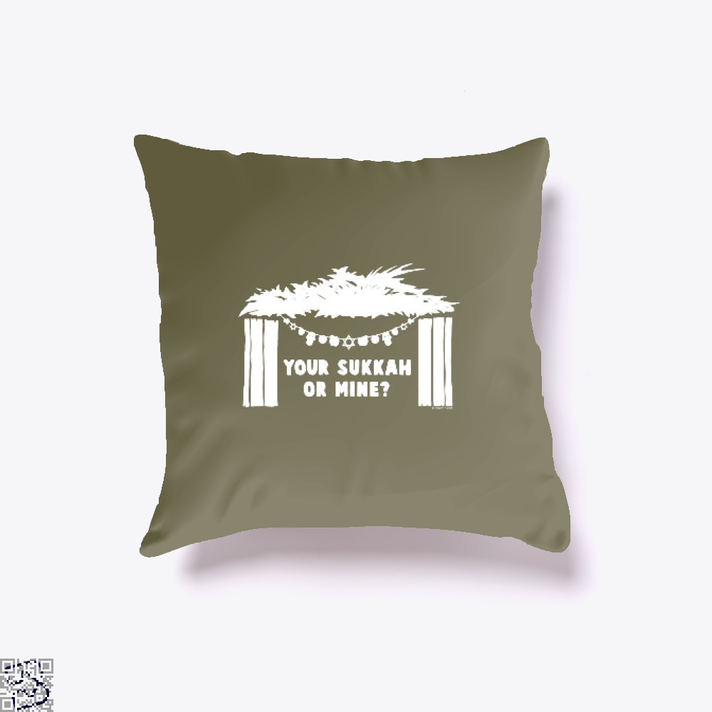 Your Sukkah Or Mine, Farcical Throw Pillow Cover