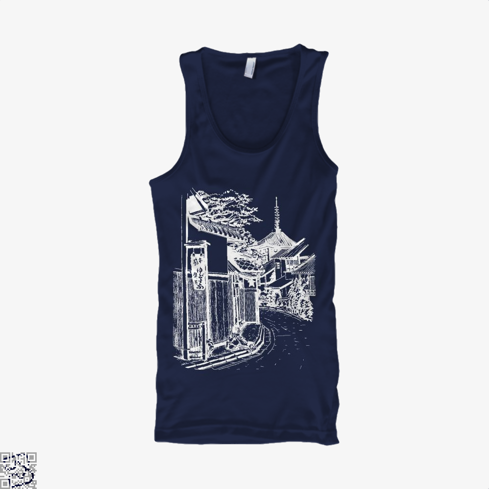 Japanese Town Sketch Bapupstore Japanesepainting Japaneseart Japanesetattoo Japan, Klgarts Tank Top