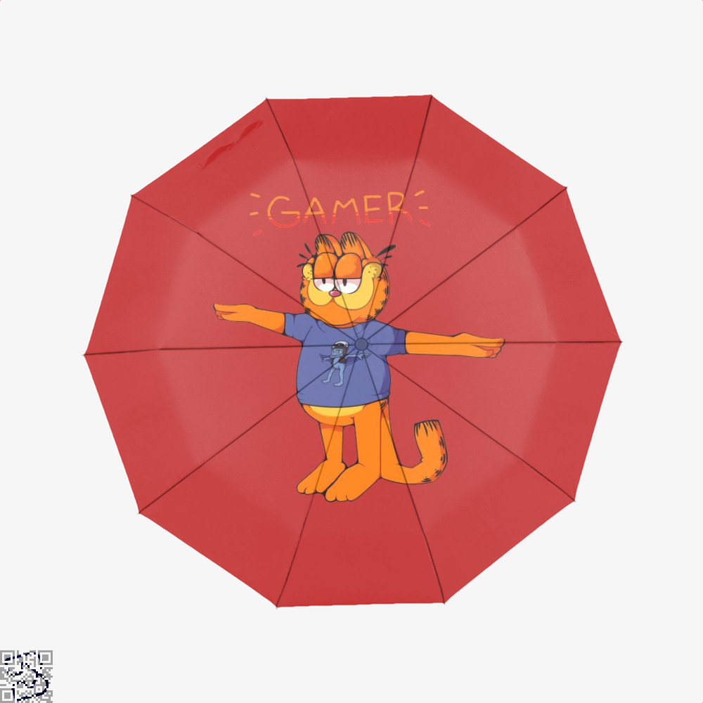 Gamer Garfield Umbrella Bapup Store Own Your Passion
