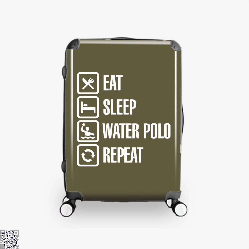 Eat Sleep Water Polo Repeat, Polo Suitcase