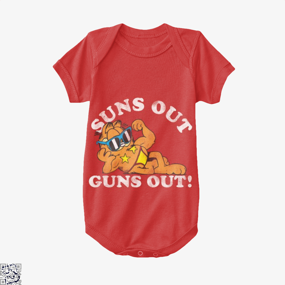 Suns Out Guns Out, Garfield Baby Onesie