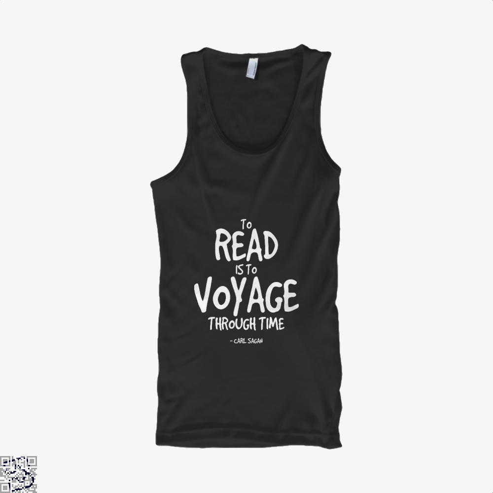 Reading Is Time Traveling Short Quote, Reading Tank Top