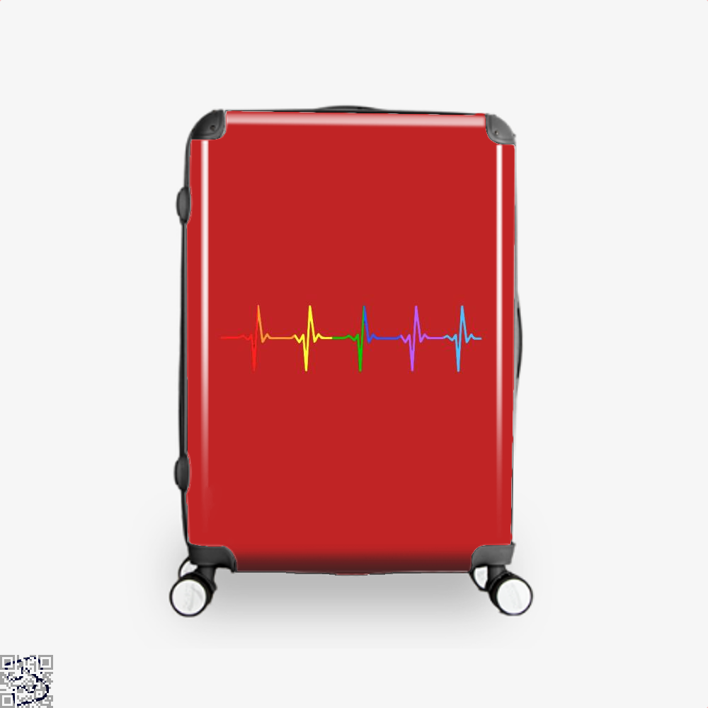 Gay Pride Lgbt Heartbeat Pulse, Lgbt Suitcase