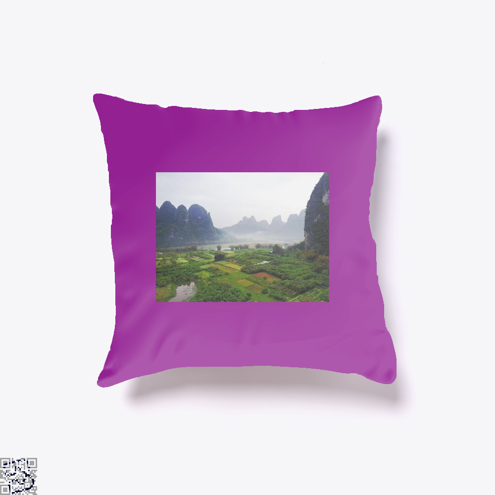Guilin, Klgarts Throw Pillow Cover