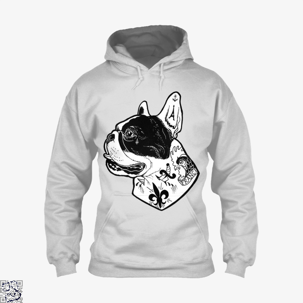 Tattooed French Bulldog, French Bulldog Hoodie