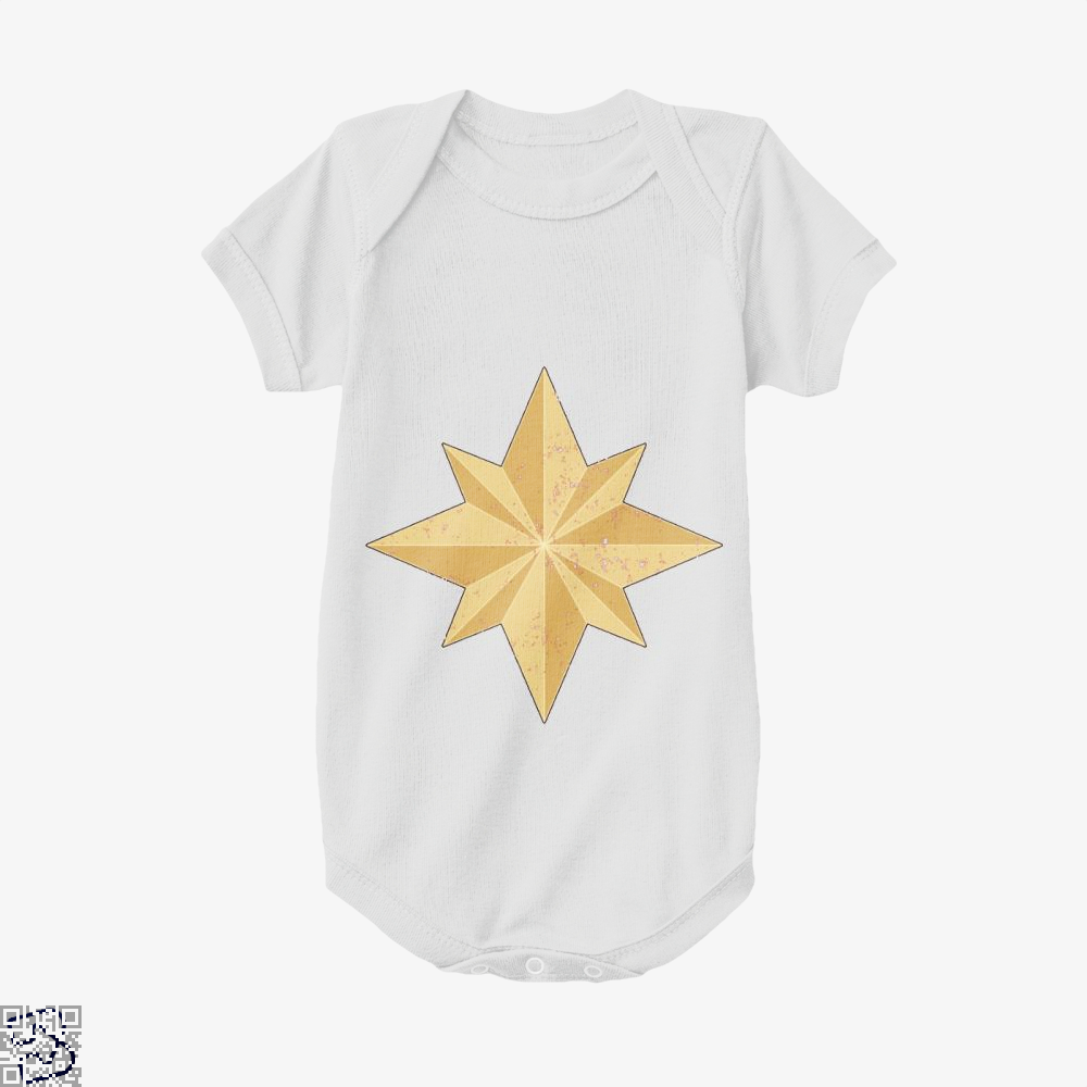 Captain Marvel Logo, Captain Marvel Baby Onesie