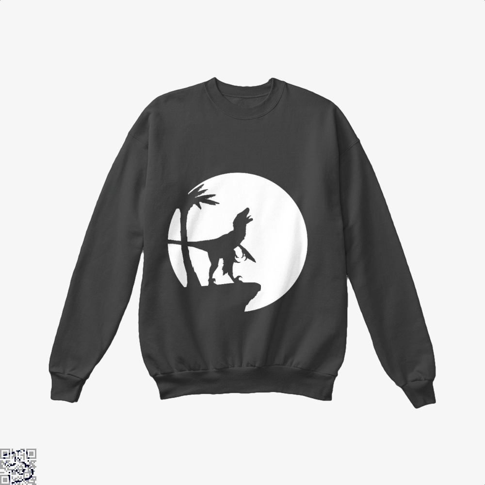 Raptor Moon Feathered, Jurassic World Crew Neck Sweatshirt