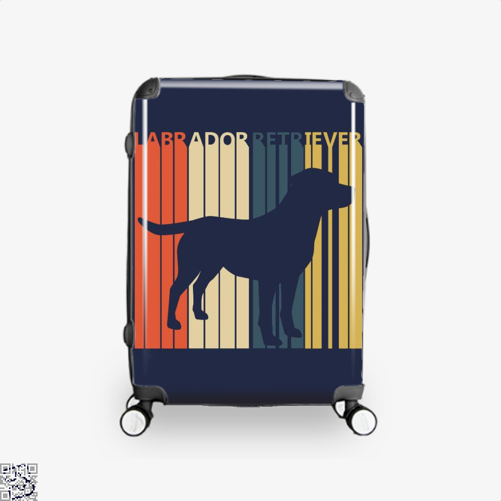 Vintage 1970s Labrador Retriever Dog Owner Gift, Labrador Retriever Suitcase
