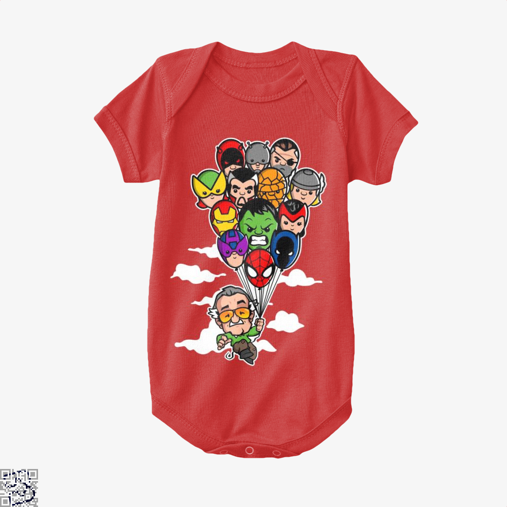 Balloon Stan Ii, Stan Lee Baby Onesie