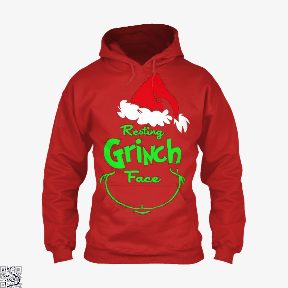 Resting Grinch Face, Grinch Hoodie