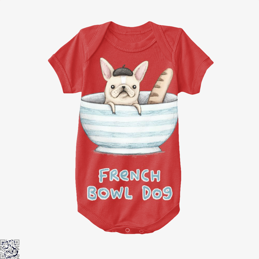French Bowl Dog, French Bulldog Baby Onesie
