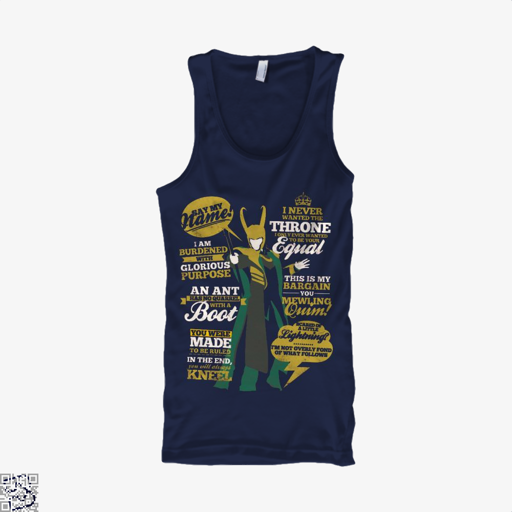Quotes Of A Mischief God, Loki Tank Top