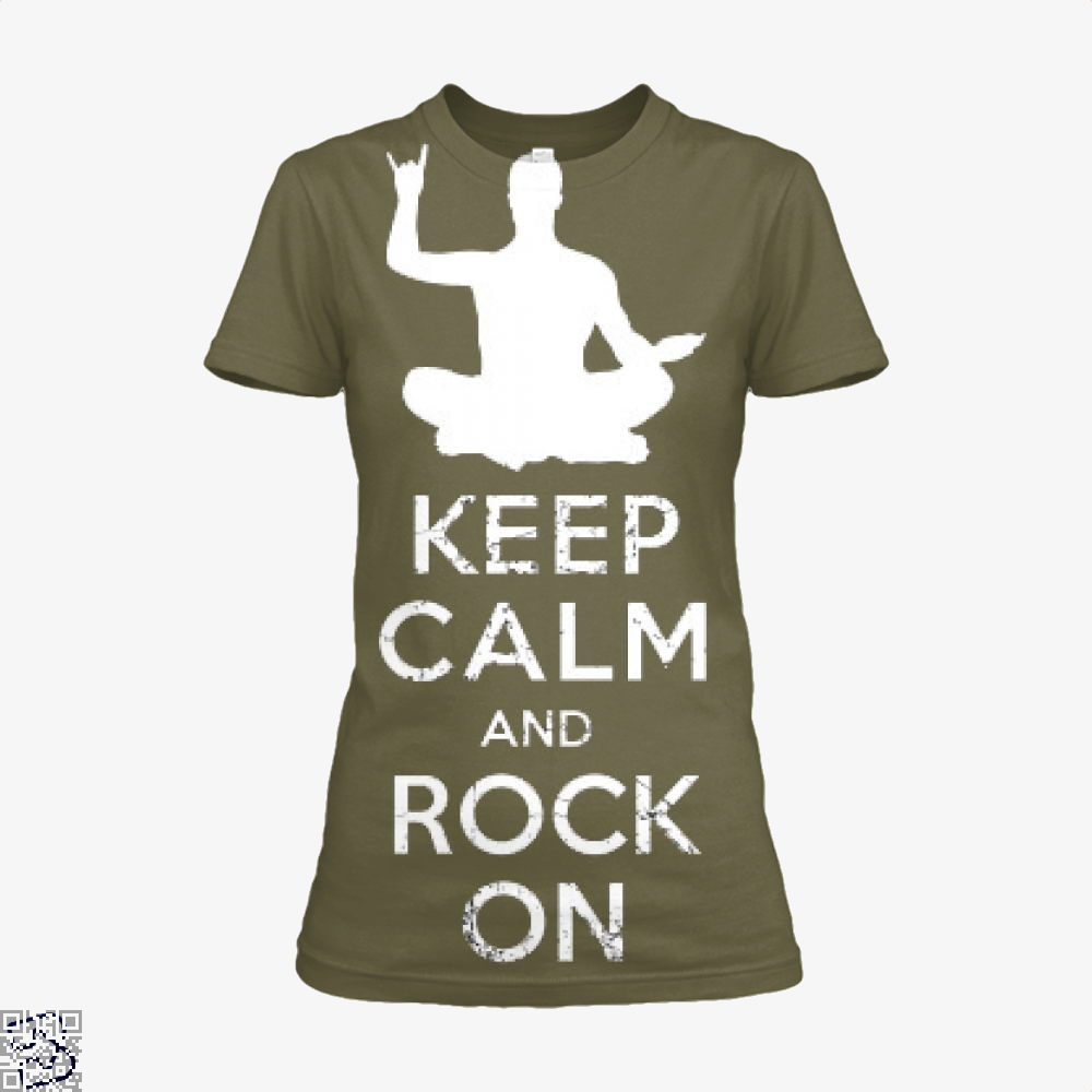 Keep Calm And Rock On Yoga Meditation Christmas Gift, Yoga Shirt