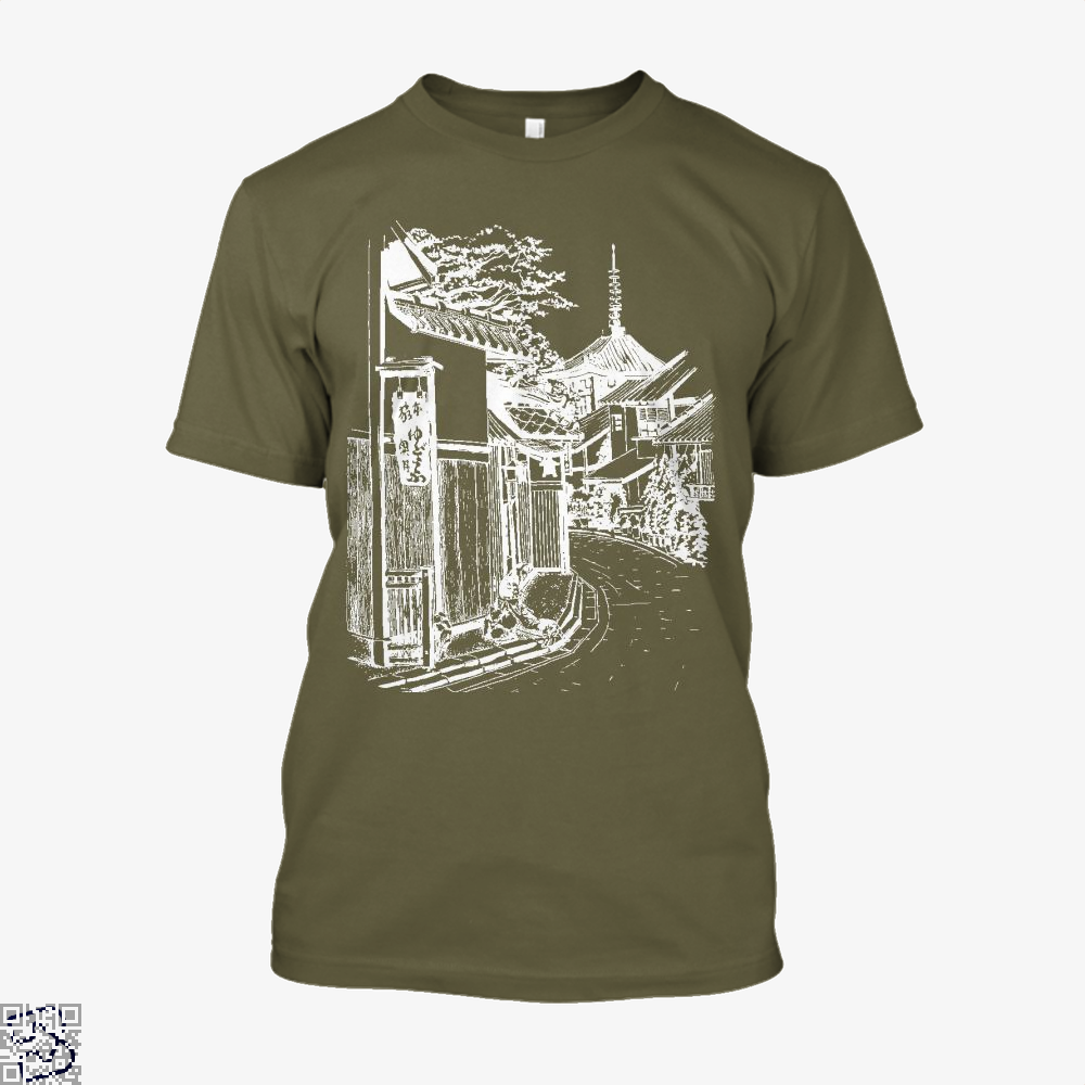 Japanese Town Sketch Bapupstore Japanesepainting Japaneseart Japanesetattoo Japan, Klgarts Shirt