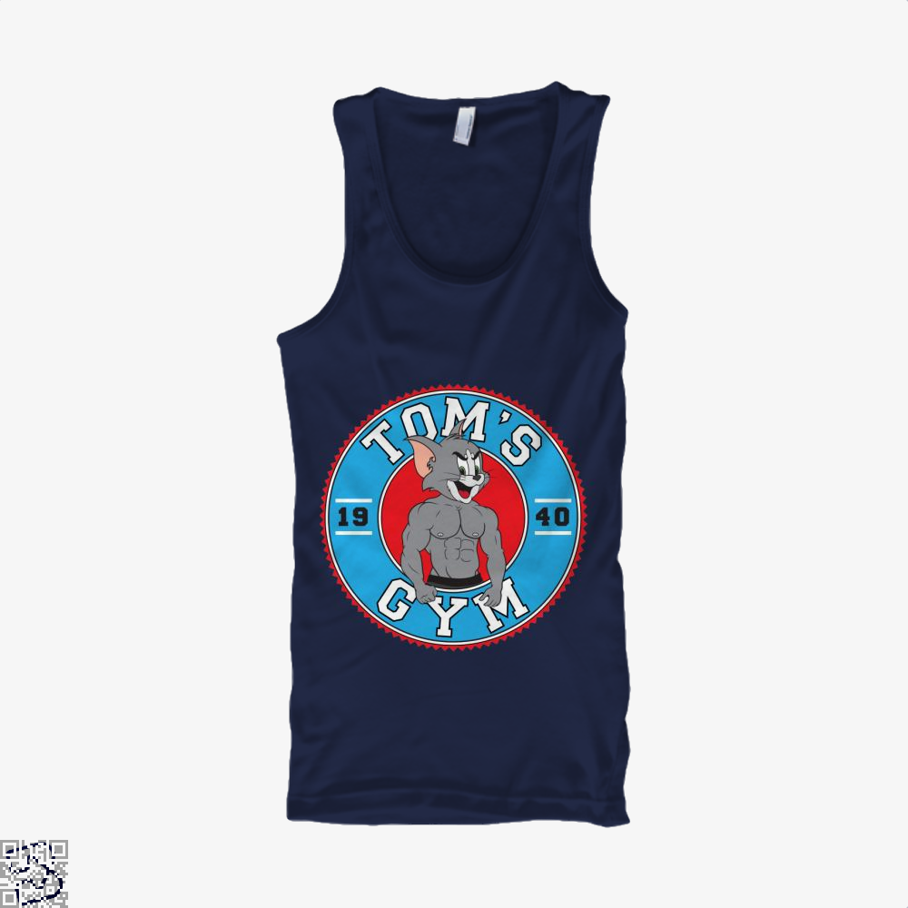 Toms Gym, Tom And Jerry Tank Top