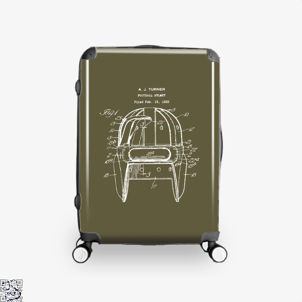Original Football Helmet Design, Football Suitcase