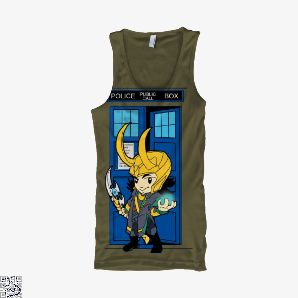 Mad God In A Big Blue Box, Loki Tank Top