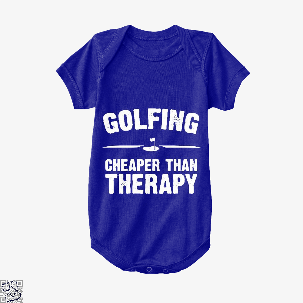 Golfing Cheaper Than Therapy, Golf Baby Onesie