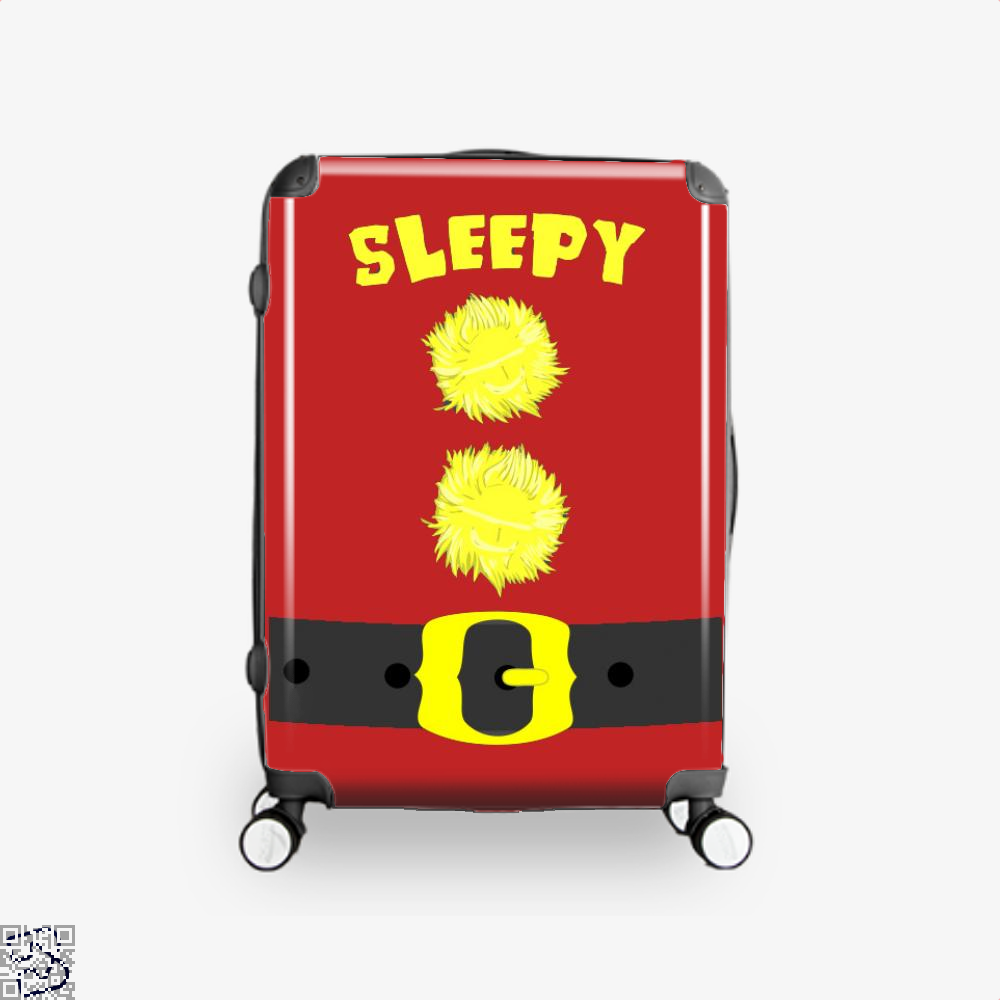 Sleepy Snow White 7 Dwarfs Bashful Sneezy Dopey Happy Grumpy Doc, Sloth Suitcase