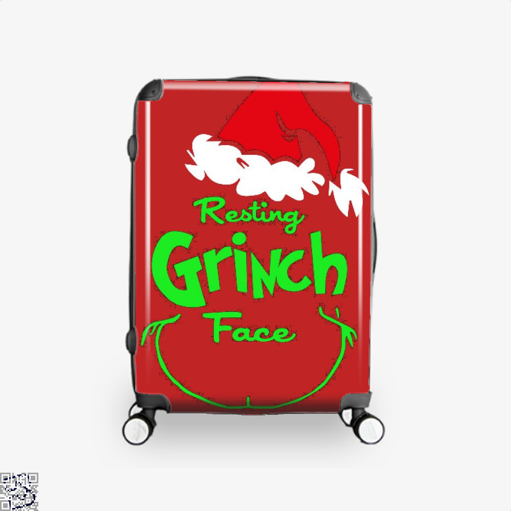 Resting Grinch Face, Grinch Suitcase