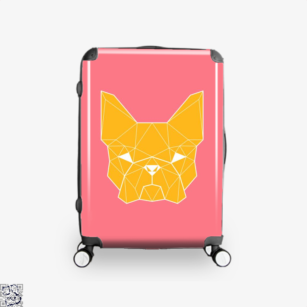 French Geometry, French Bulldog Suitcase