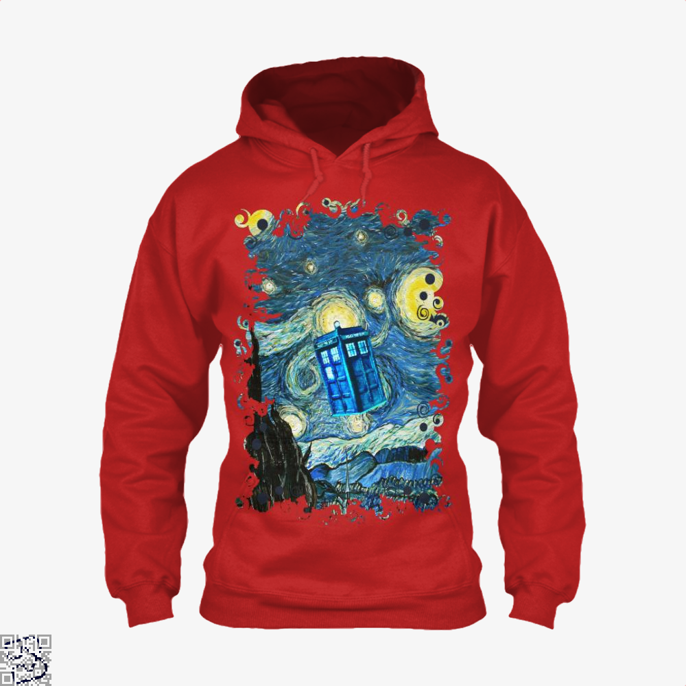 Soaring Blue Phone Box, Doctor Who Hoodie
