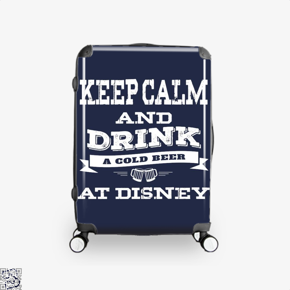 Keep Calm And Drink A Beer, Wine Suitcase