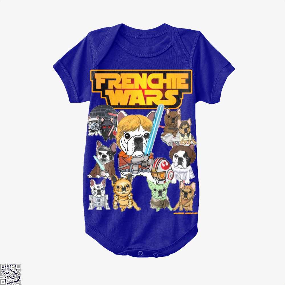 Frenchie Wars, French Bulldog Baby Onesie
