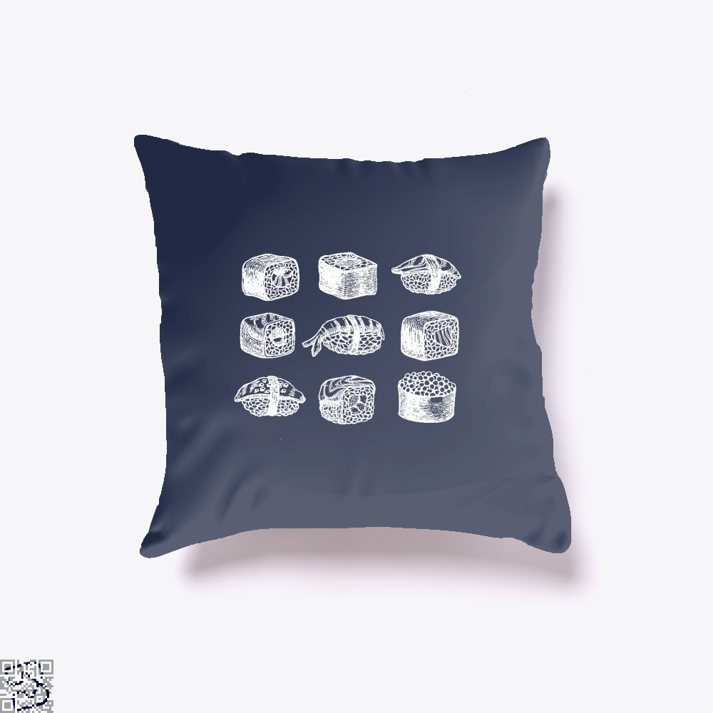 Complete Sushi Set , Klgarts Throw Pillow Cover